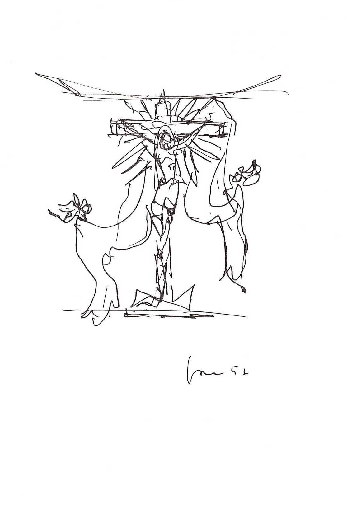Lucio Fontana - Studio per la V porta del Duomo di Milano - Crocifissione