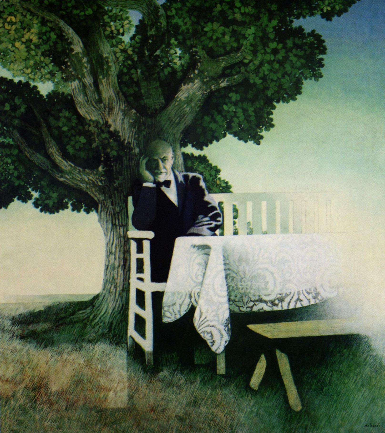 Mario Bardi - L'arbre - Portrait  de Pirandello