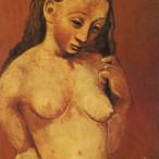 Pablo Picasso - Nudo su sfondo rosso