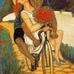 Giuseppe Migneco - Passeggiata in bicicletta