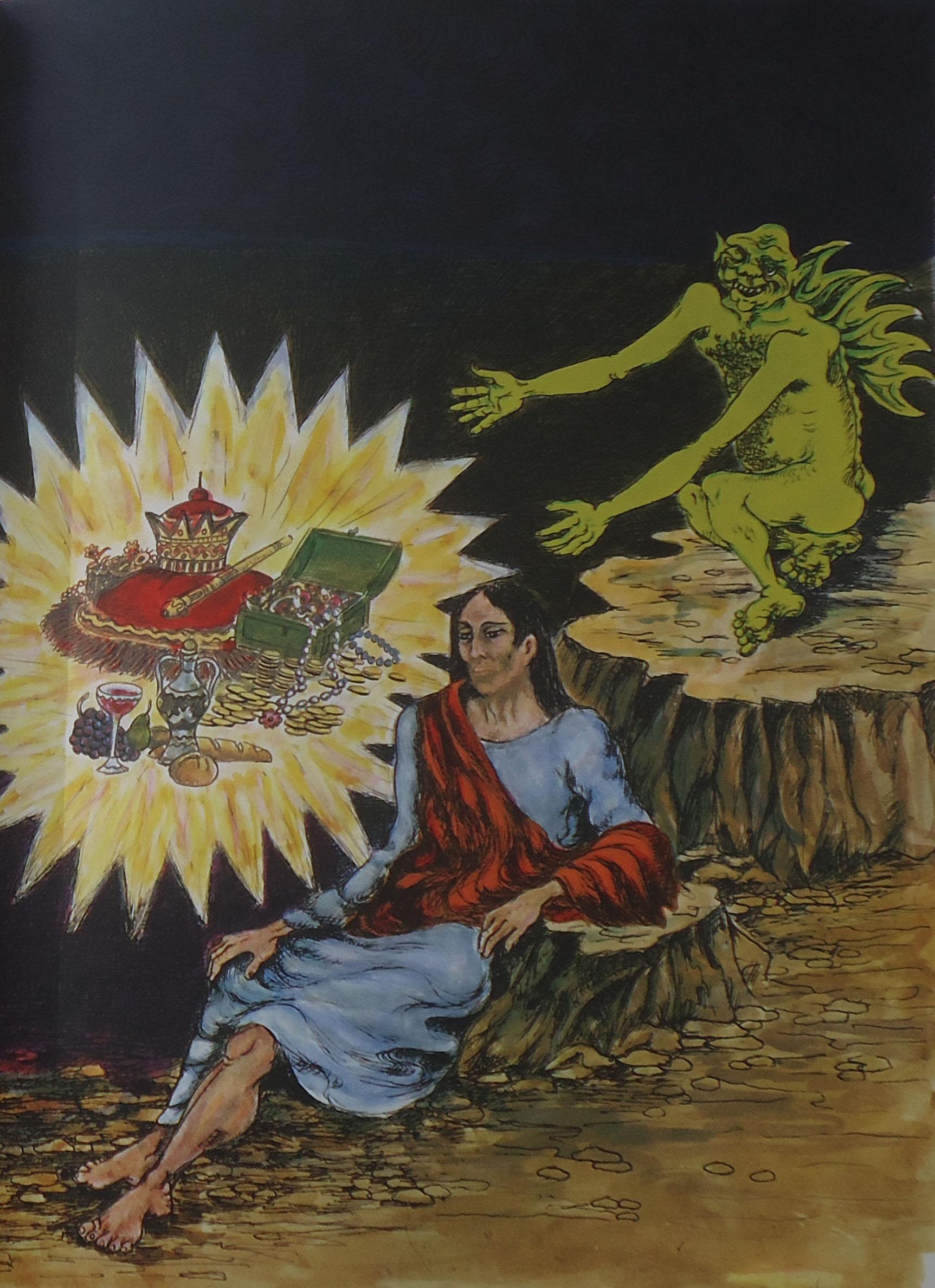 Giuseppe Migneco - Gesù tentato dal diavolo