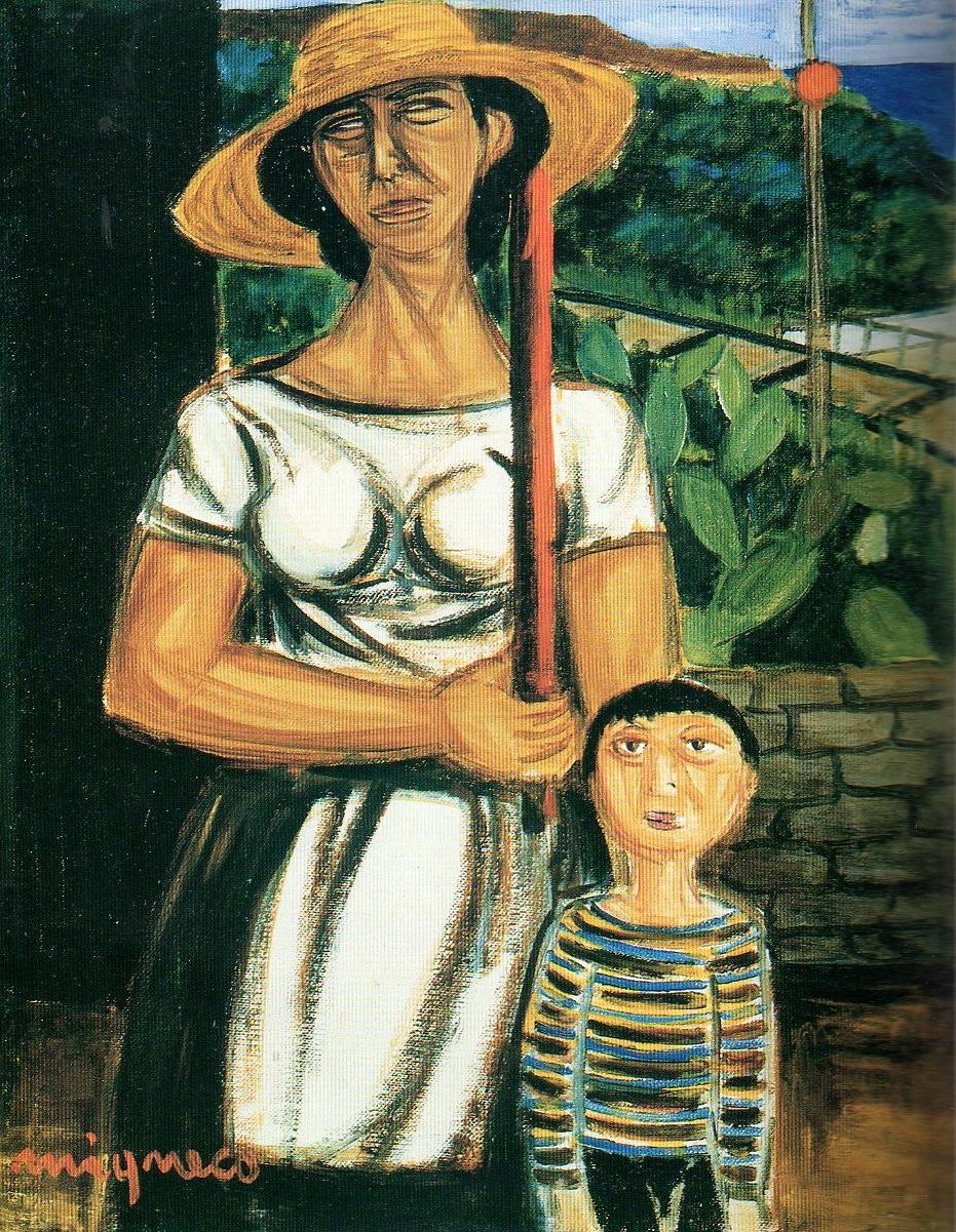 Giuseppe Migneco - Donna con bambino
