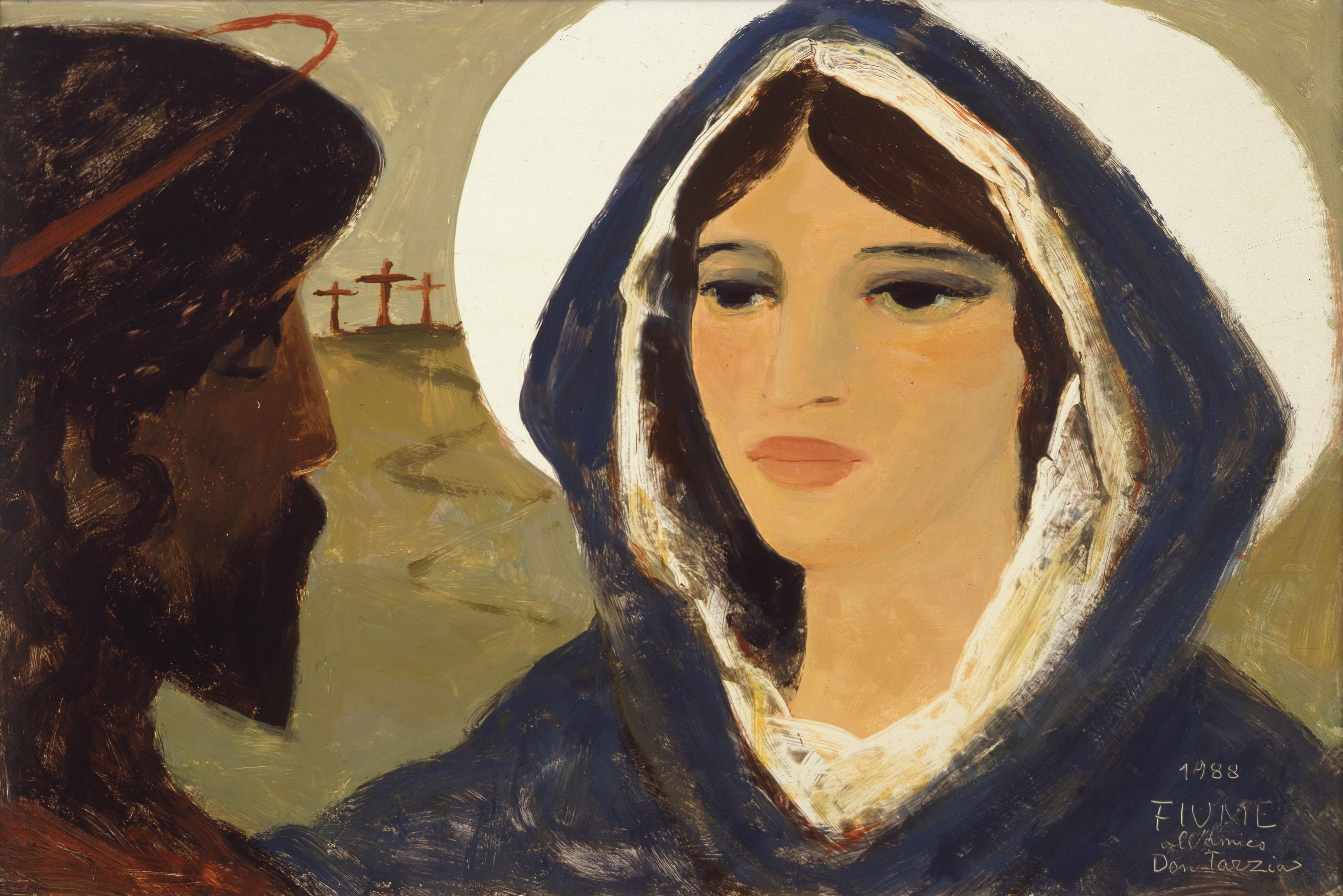 Salvatore Fiume - Gesù risorto appare a Maria