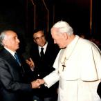 Giovanni Paolo II ed Emilio Greco