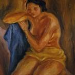 Lia Pasqualino Noto - Nudo con drappo blu