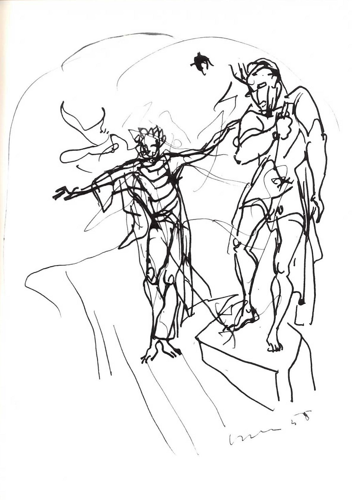 Lucio Fontana - Studio per la V porta del Duomo di Milano - Resurrezione