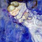 Trento Longaretti - Madre su sfondo blu