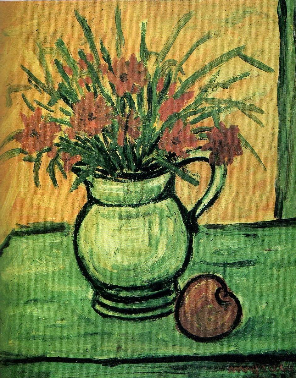 Giuseppe Migneco -Vaso di fiori