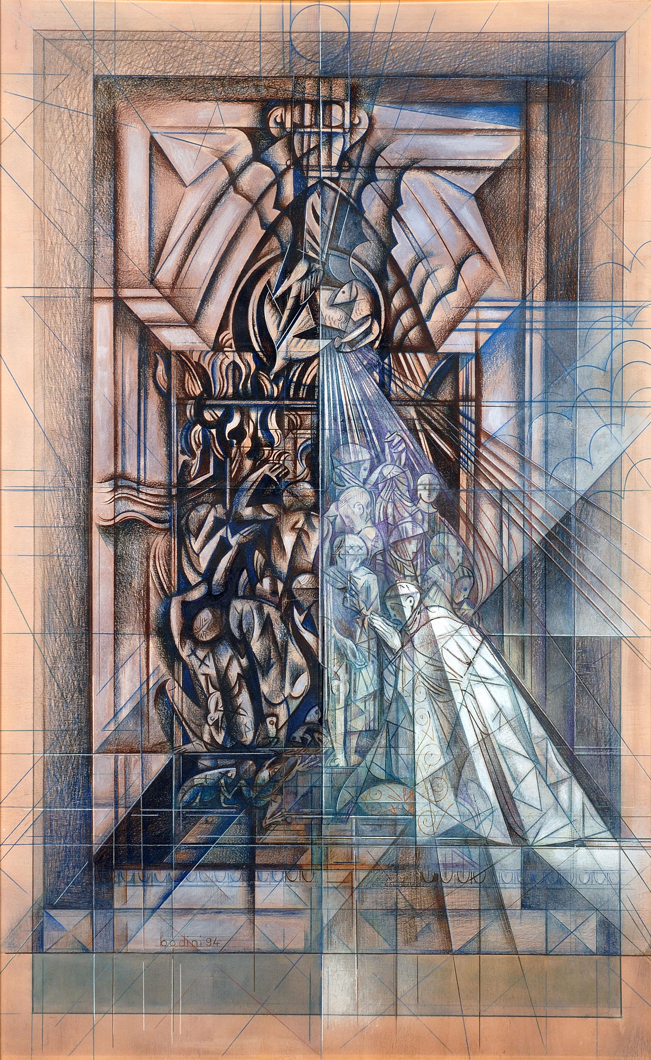 Floriano Bodini - Studio per porta
