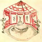 Lucio Fontana - Studio per la decorazione della cappella delle suore Carline