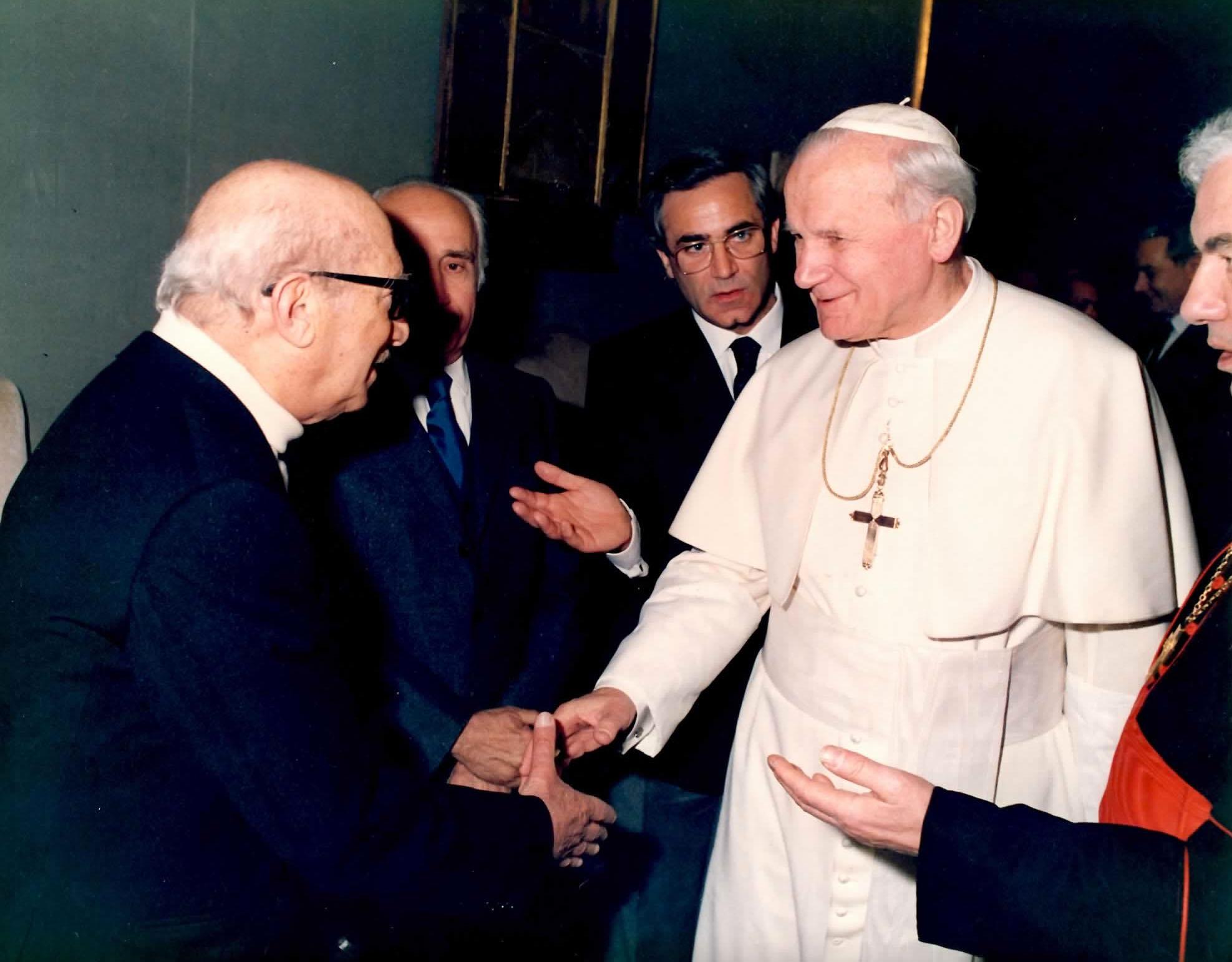 Migneco e Giovanni Paolo II