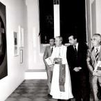 Il Cardinale Pappalardo in visita alla mostra