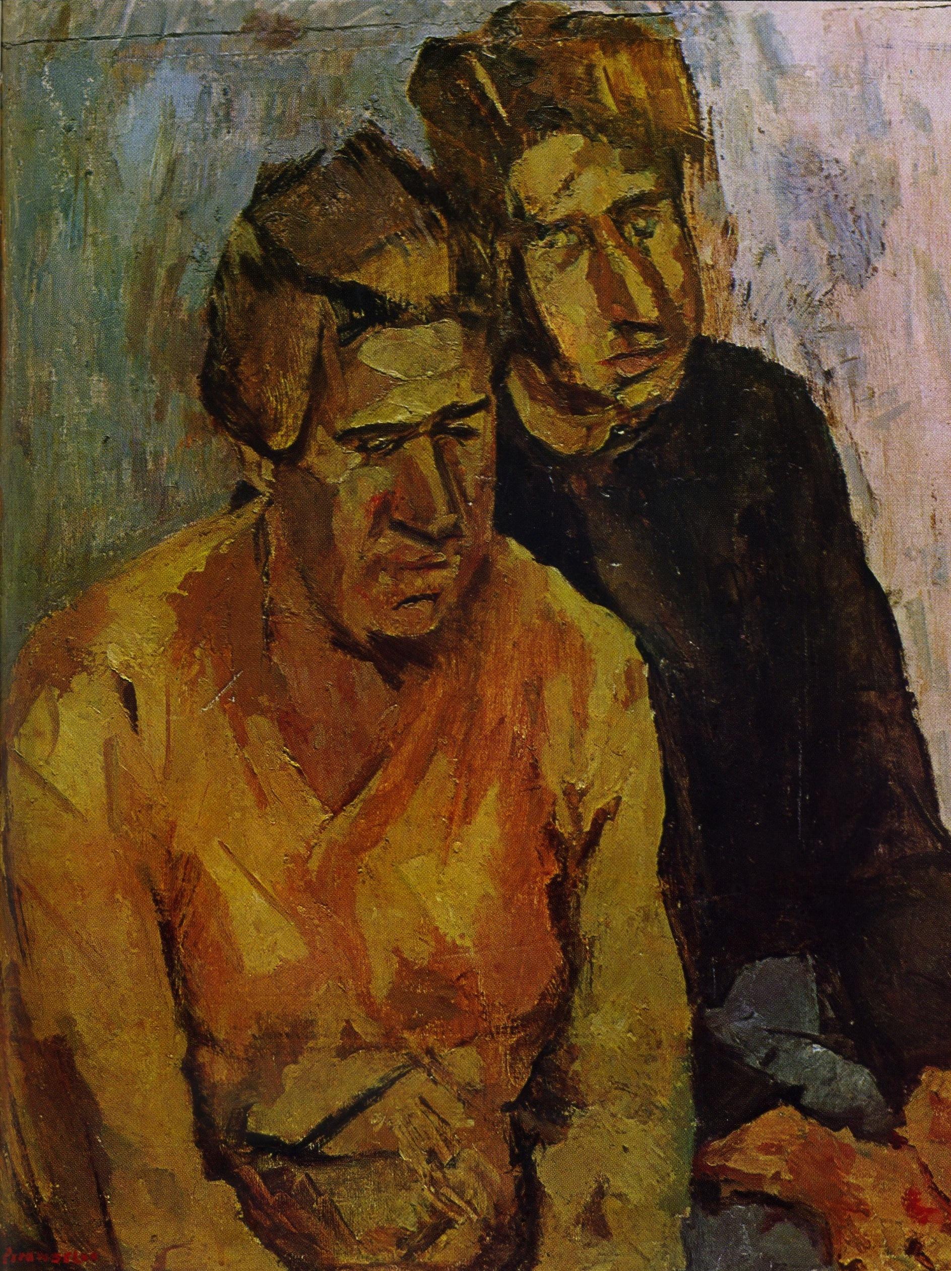 Fausto Pirandello - Madre e figlio