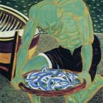 Giuseppe Migneco - Pescatore verde