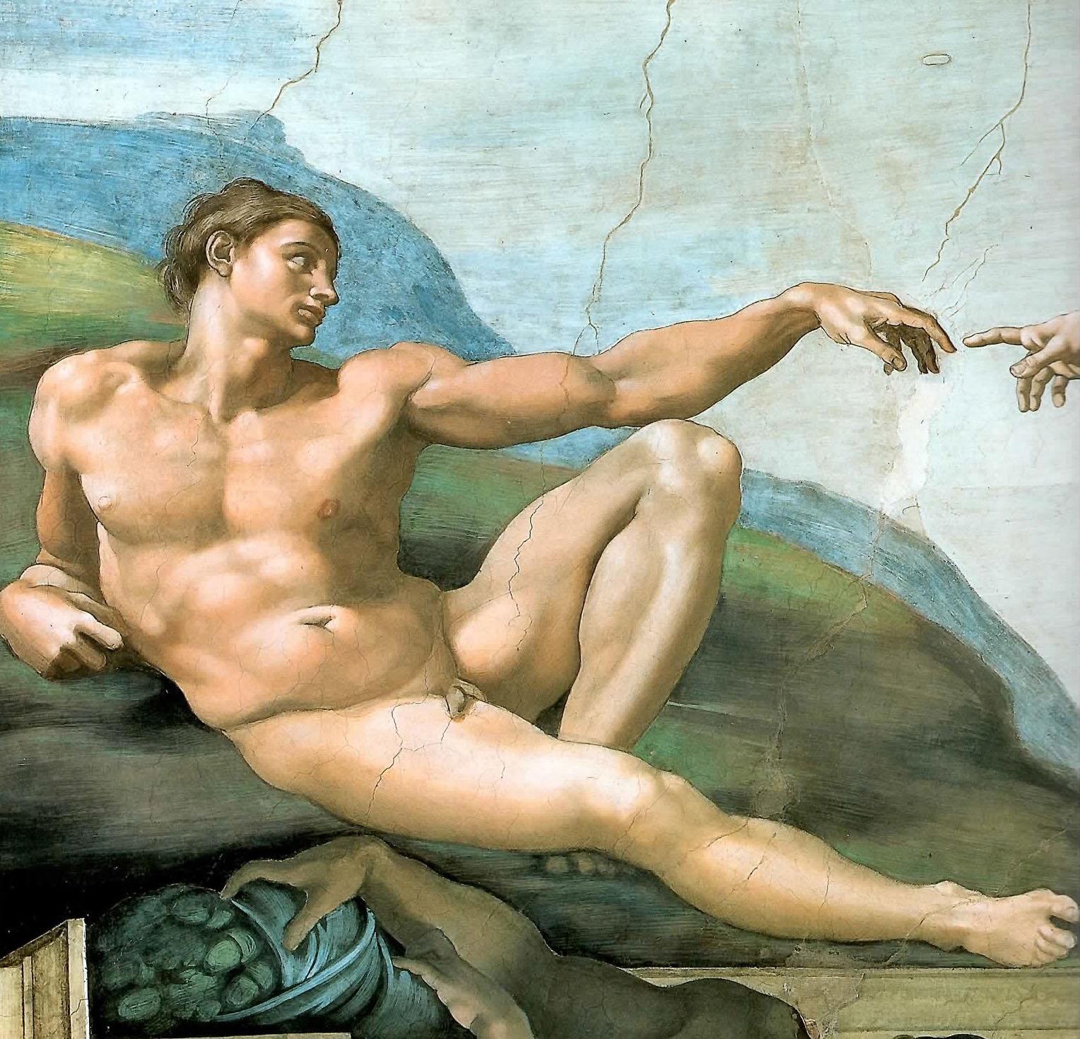 Michelangelo - Crazione di Adamo
