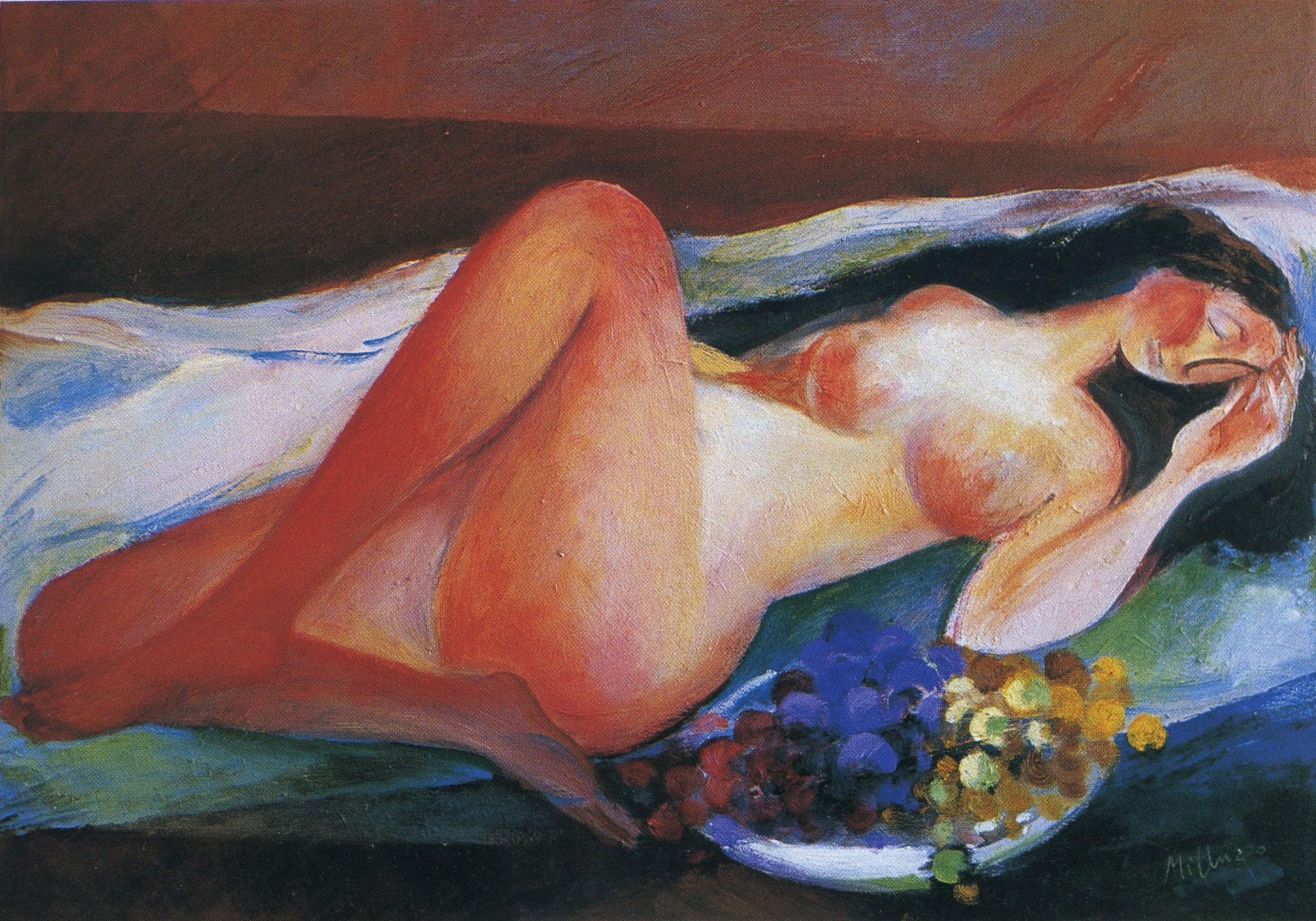 Sebastiano Milluzzo - Nudo e uva