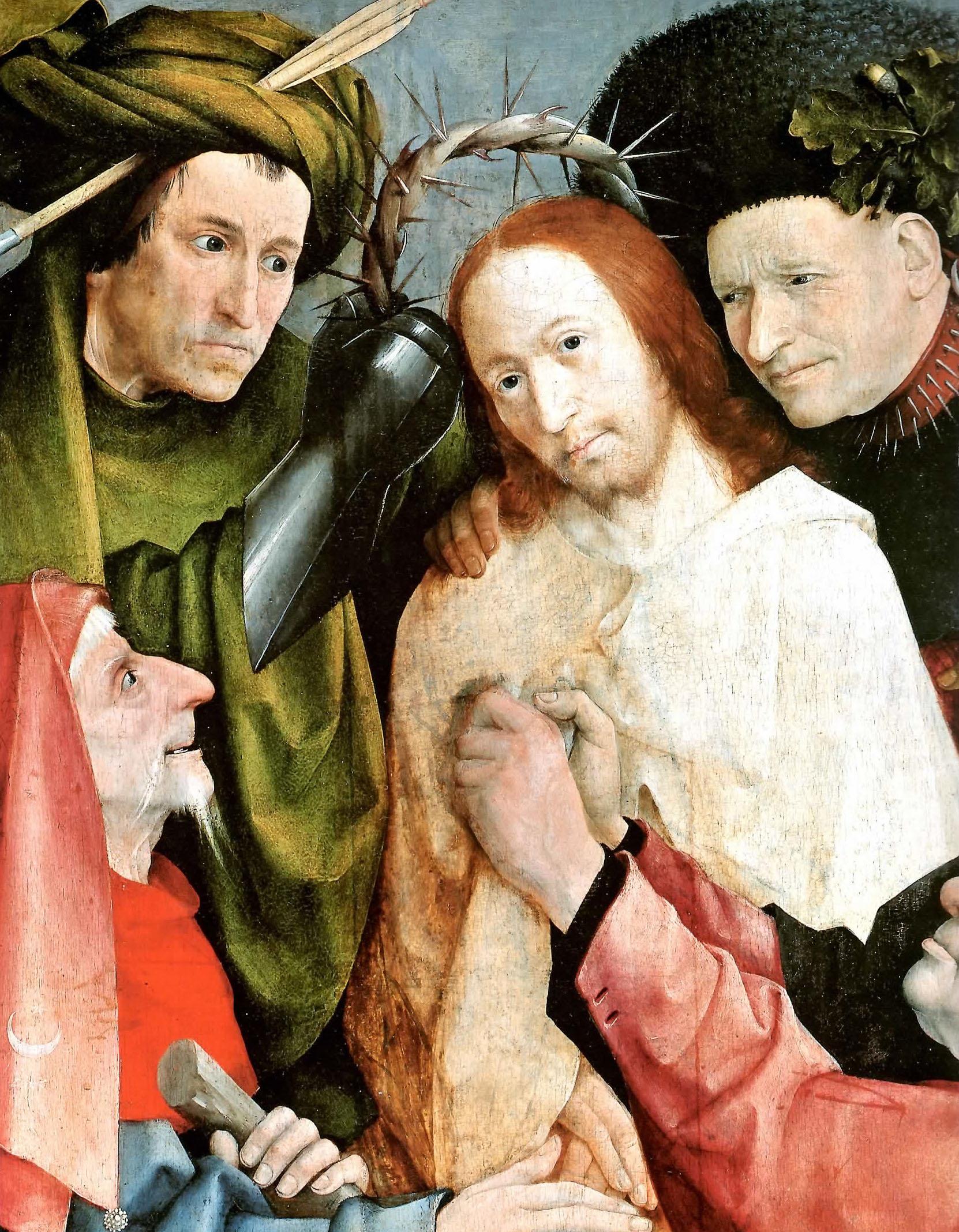Hieronymus Bosch - Incoronazione di spine, part.