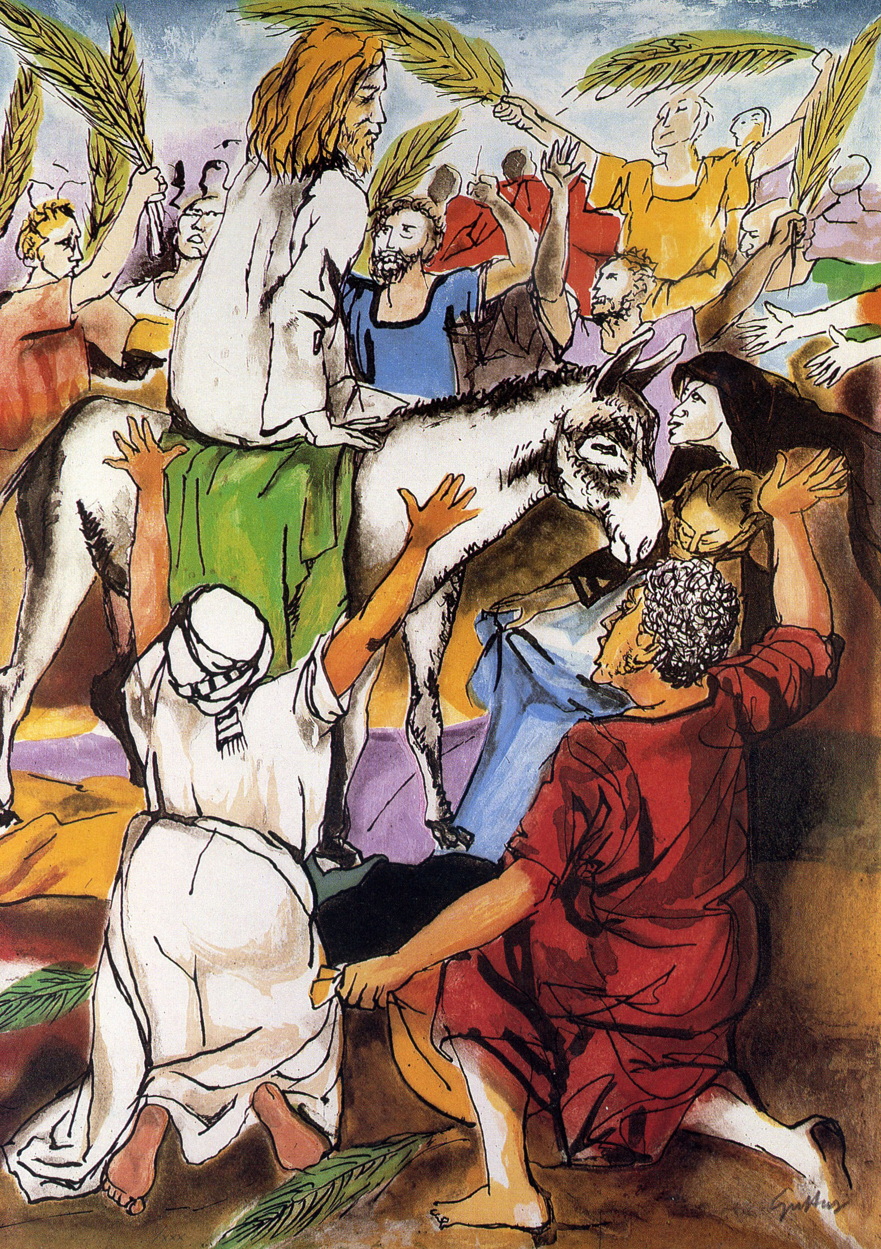 Renato Guttuso - Entrata a Gerusalemme