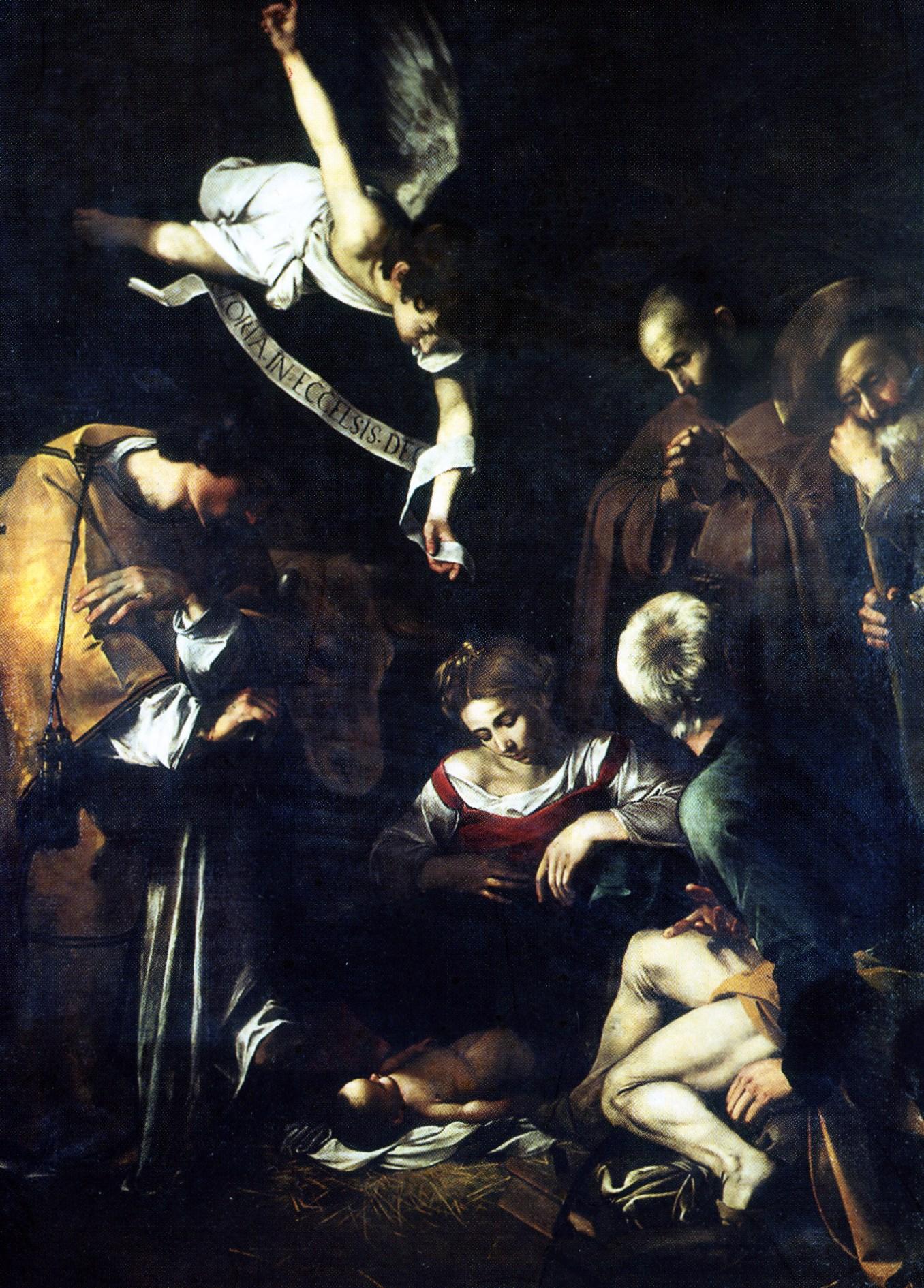 Caravaggio - Natività con San Lorenzo e San Francesco