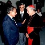 Il Cardinale Pappalardo con Alberto Bombace e Giovanni Bonanno