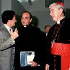 Il Cardinale insieme con Fabio Carapezza Guttuso e mons. Salvatore Gristina