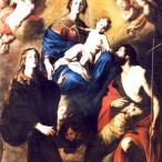 Pietro Novelli - Madonna delle Grazie con i Santi Rosalia e Giovanni Battista