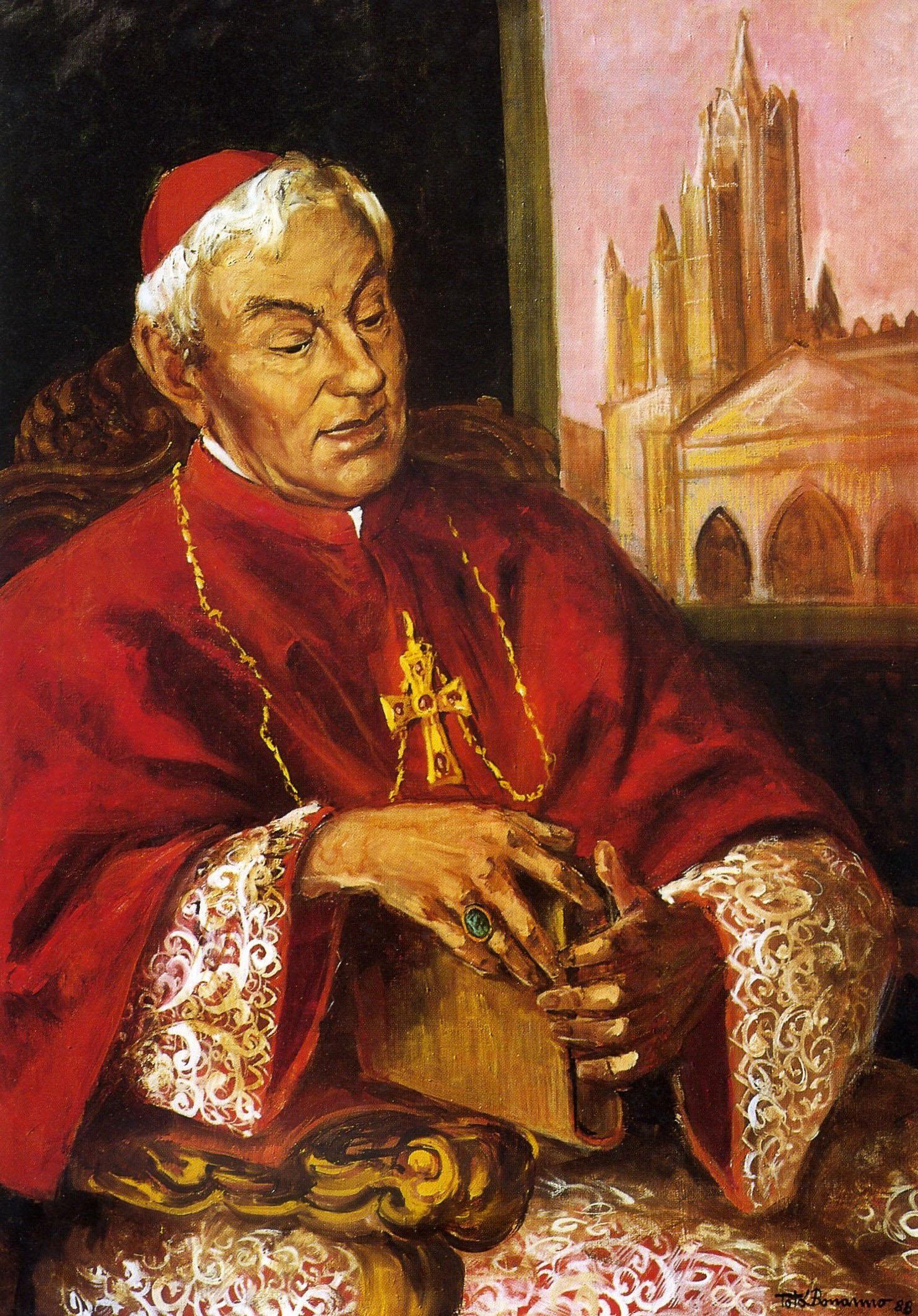 Totò Bonanno - Ritratto del Cardinale Salvatore Pappalardo