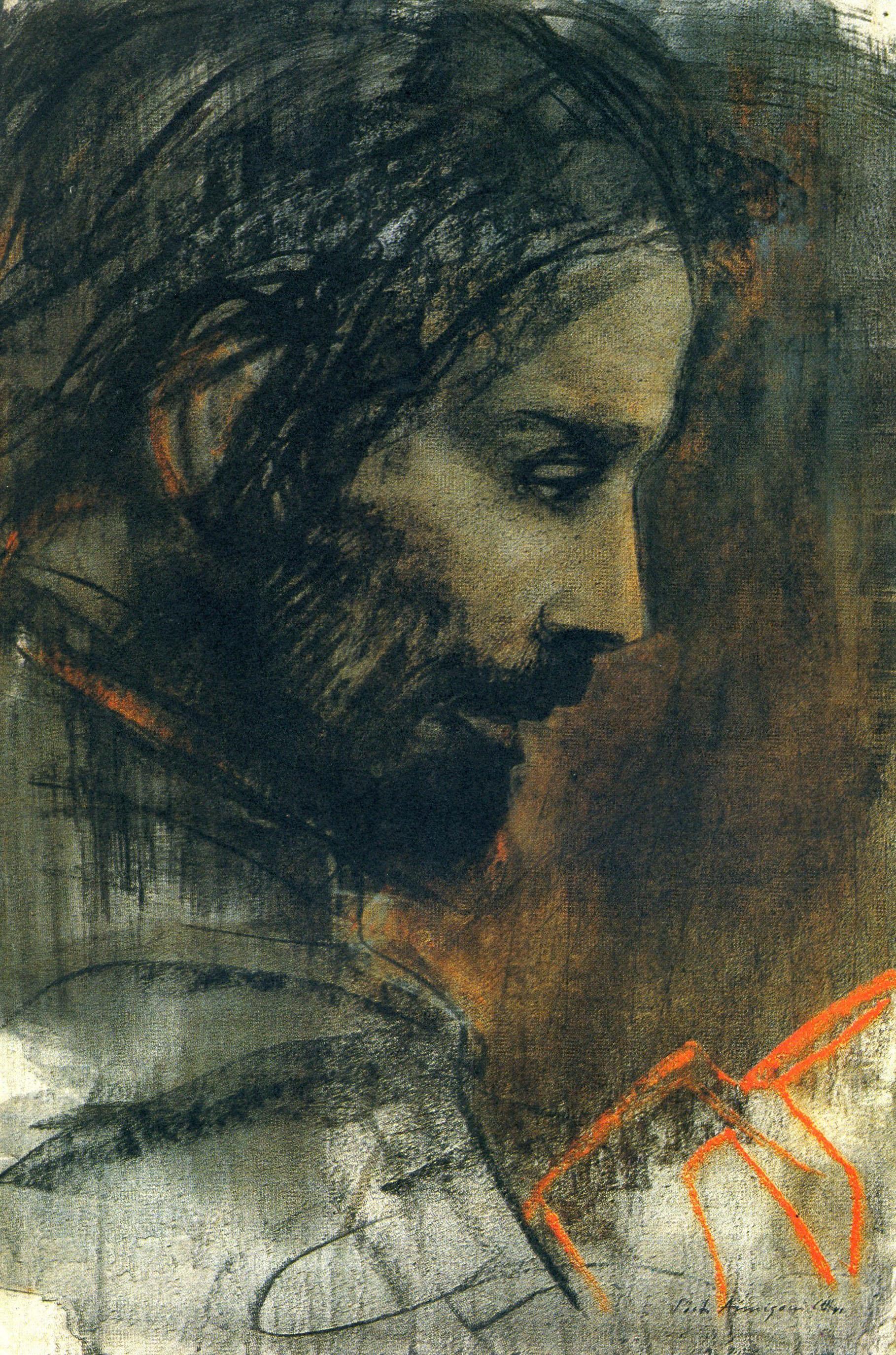 Pietro Annigoni - Testa di Cristo
