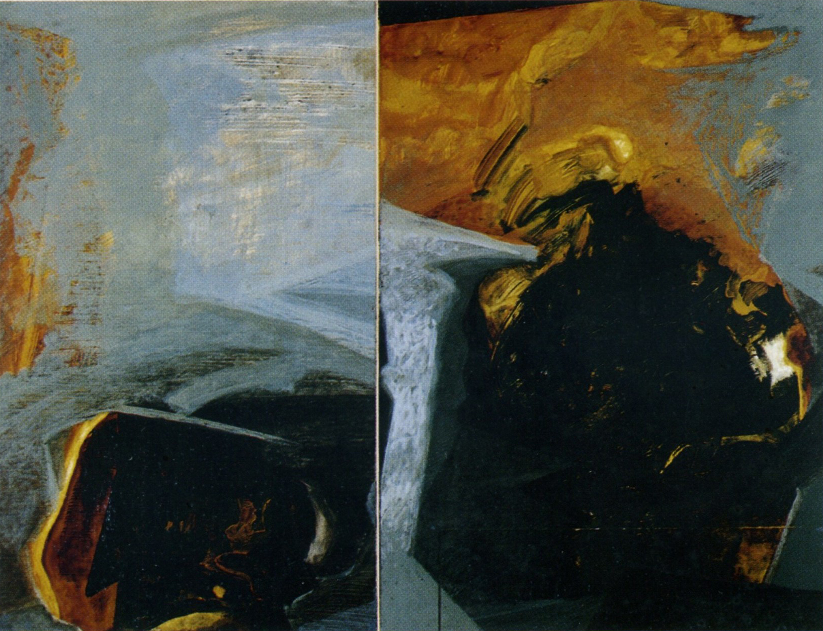 Antonino Sacco - Diptyque en gris