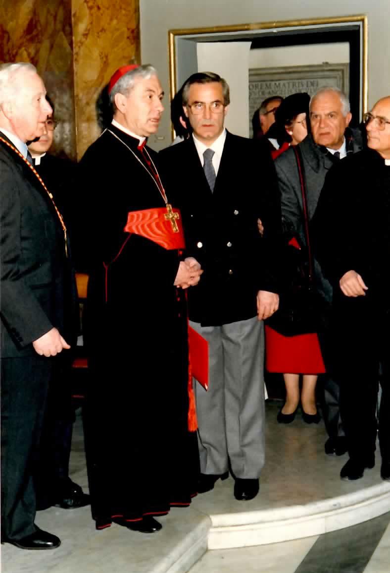 Il Cardinale con Bonanno e Quatriglio