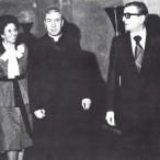 Il Cardinale Pappalardo accompagnato dall'Onorevole Mario Fasino, Presidente dell'ARS e dalla signora