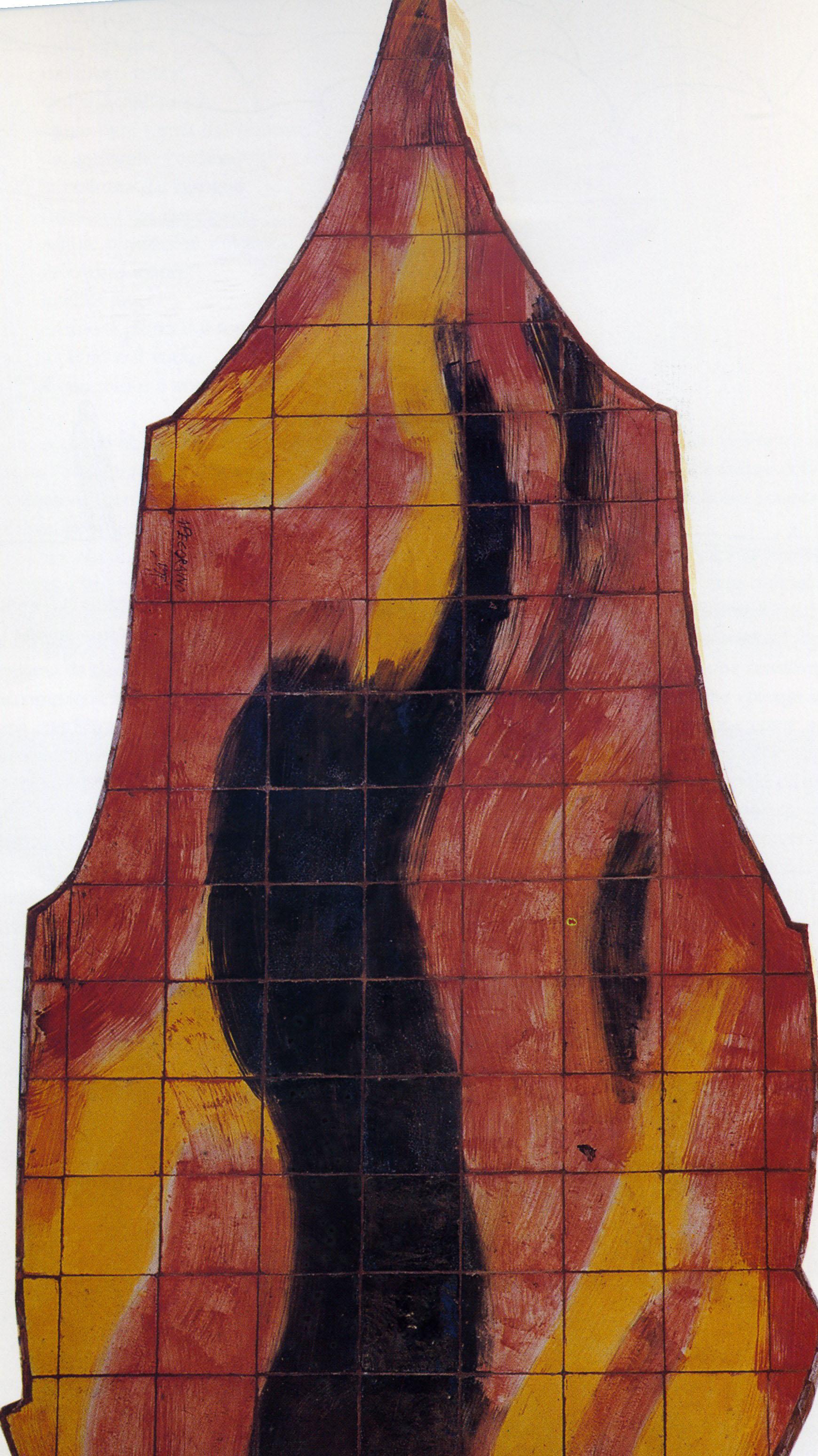 Mario Pecoraino - Monumento ai caduti, Fiamma