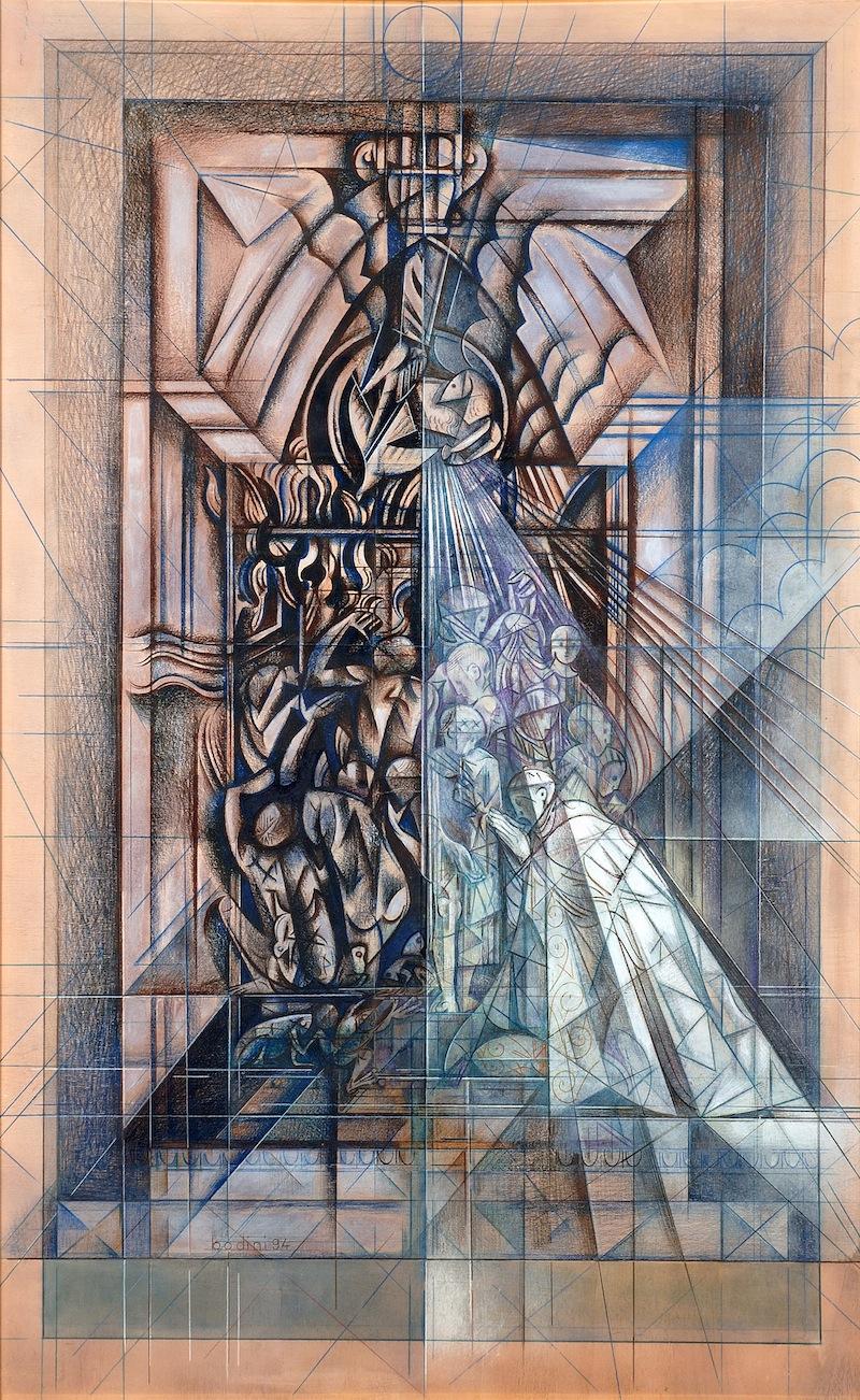 Portale della Cattedrale di Palermo, tecnica mista 1994
