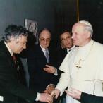 Bodini incontra Papa Wojtyla 1987 presentazione dell'Evangelario