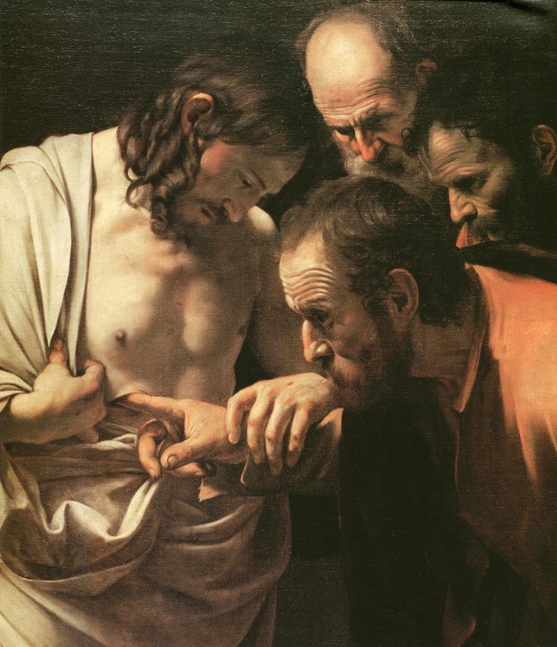 Caravaggio - Incredulità di Tommaso 2
