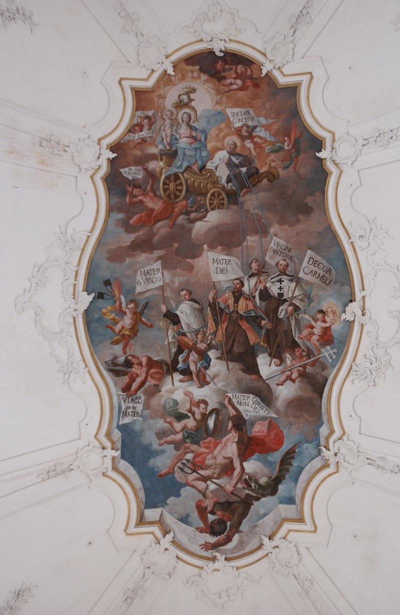 Costantino Carasi - I Carmelitani innegiano la Vergine