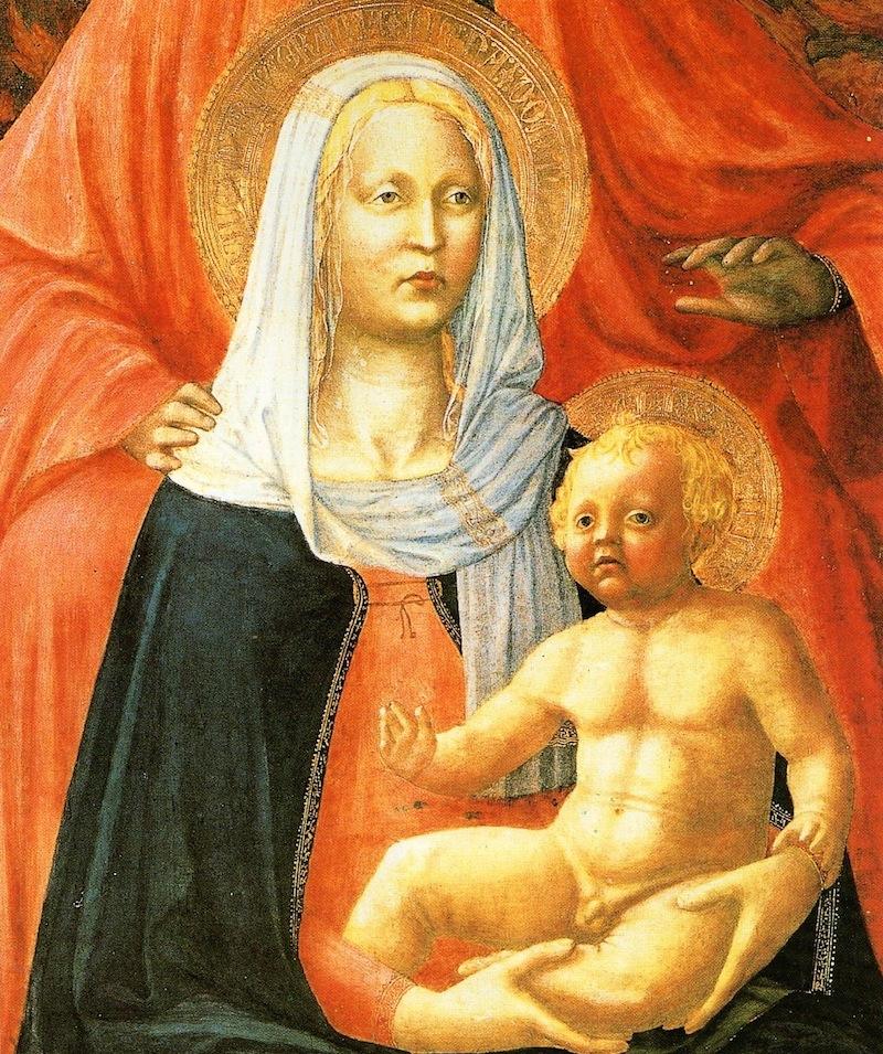 Masaccio - Madonna, Sant'Anna e Bambino, 1424