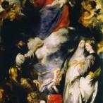 Anton Van Dyck - Madonna del Rosario con santi