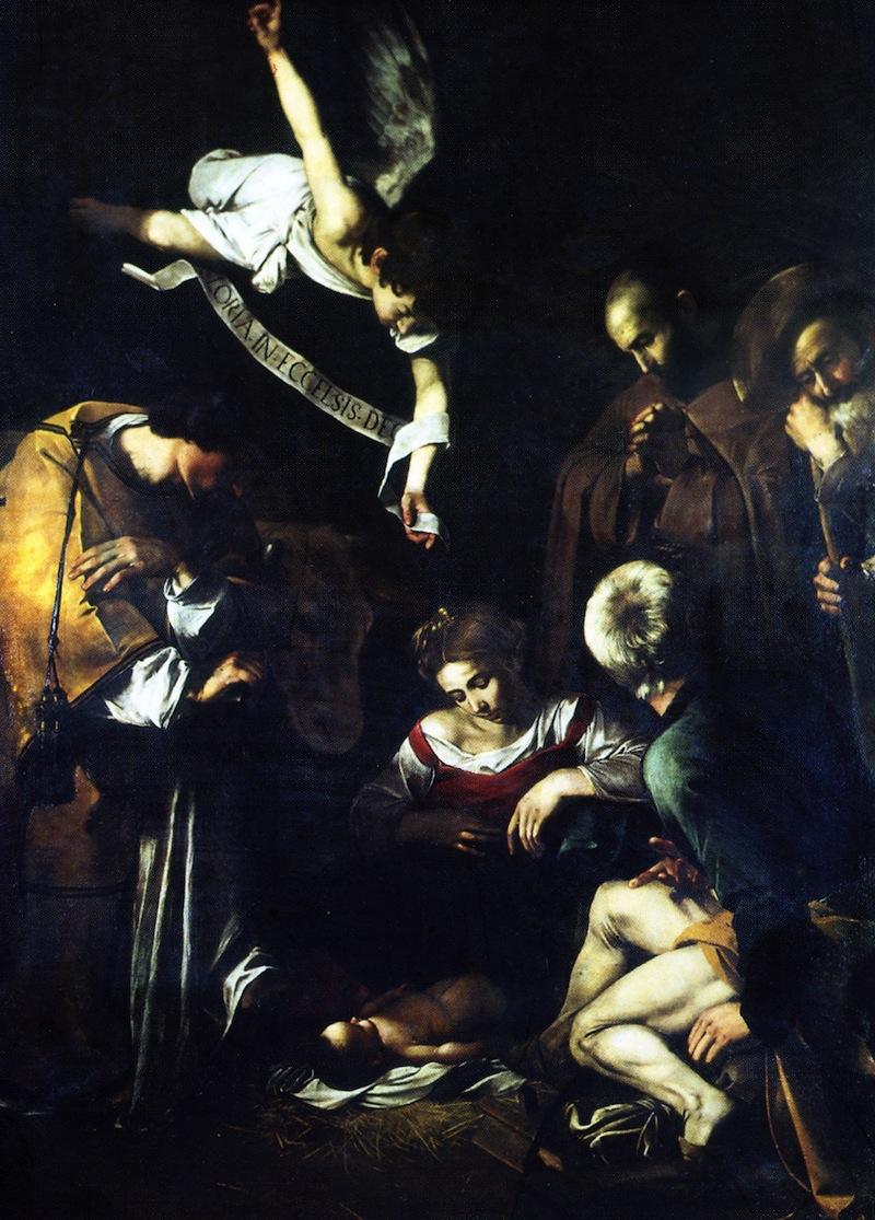 Caravaggio - Natività con s. Lorenzo e s. Francesco