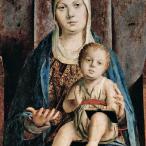 Antonello da Messina - Pala di San Cassiano, part. di Maria con il Bambino, Vienna, Kunsthistorisches Museum
