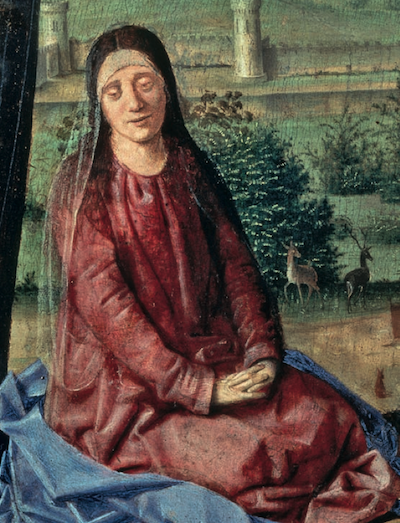 Antonello da Messina - Crocifissionbe, part. di Maria Anversa, Musée Royal des Beaux-Art