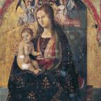 Antonello da Messina- Polittico di San Gregorio, part. di Maria, Messina, Museo Regionale
