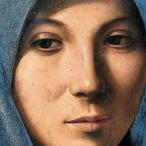 Antonello da Messina, Annunziata , part. del volto di Maria, Palermo, Galleria Regionale della Sicilia, Palazzo Abatellis