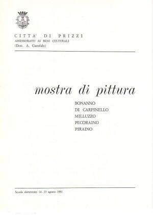 0- 1981 Mostra di Pittura - Città di Prizzi